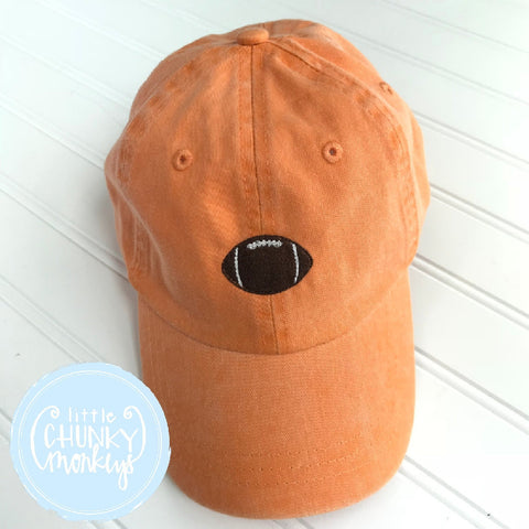 Toddler Kid Hat - Football on Orange Hat