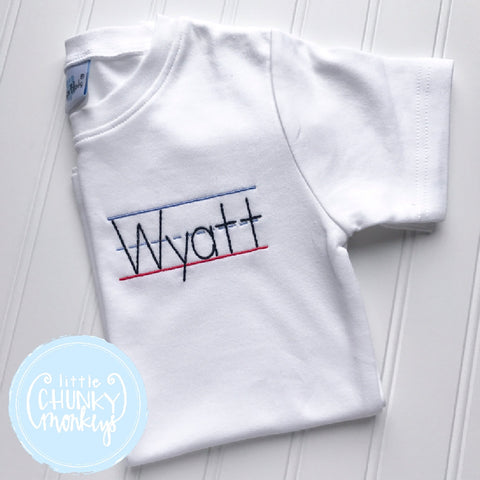 Boy Shirt - Back To School Shirt - Personalized Stitched Name on School Paper