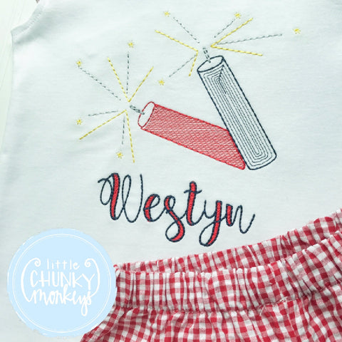 Girl outfit - Girl Shirt - Personalization with Sparkler Sticks