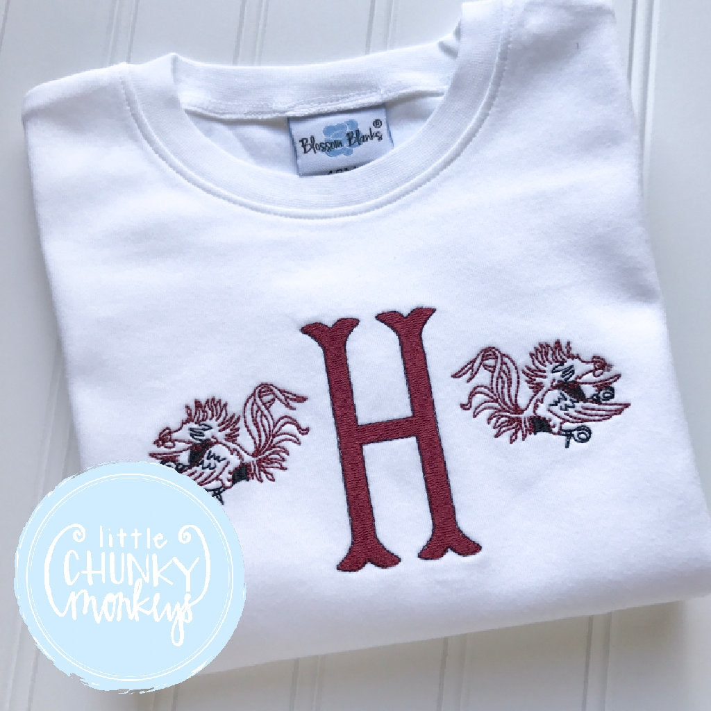 Boy Outfit - Gamecocks Single Initial Monogram Shirt