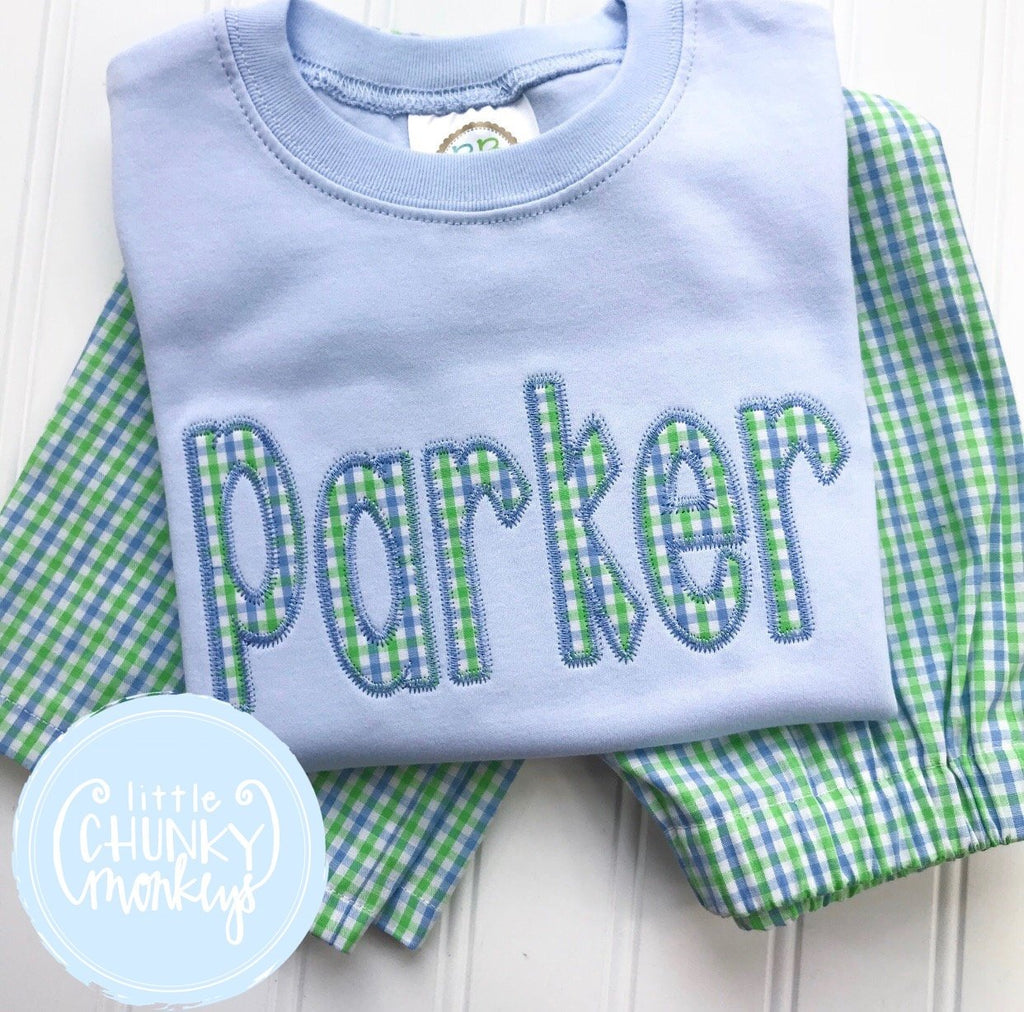 Boy Shirt - Applique Name Shirt - Boys Applique Shirt
