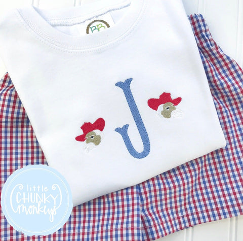 Boy Shirt - Rebel Single Initial Monogram Shirt