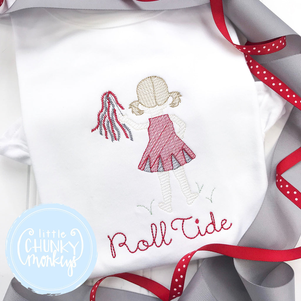 Girl outfit - Girl Shirt - Vintage Cheerleader with Personalization