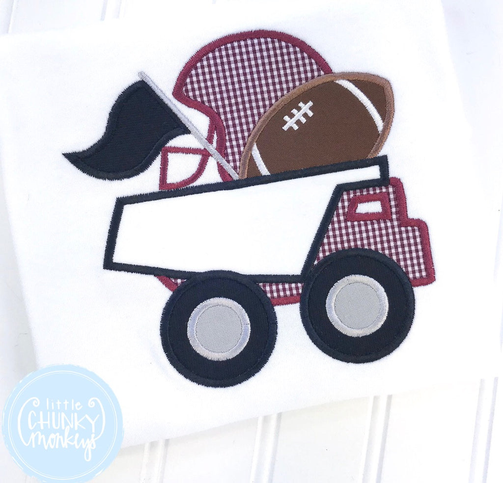 Boy Shirt - Dump Truck with Football