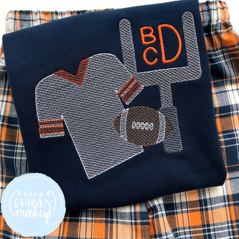 Boy Shirt - Stitch Jersey, Field Goal and Football