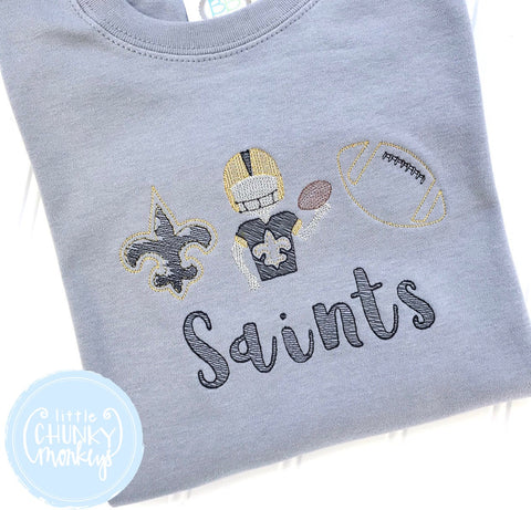Boy Shirt - Vintage Football Trio with Personalization