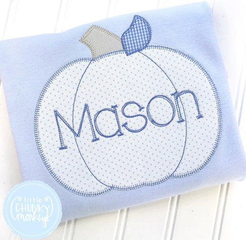 Boy Shirt - Applique Pumpkin with Personalization