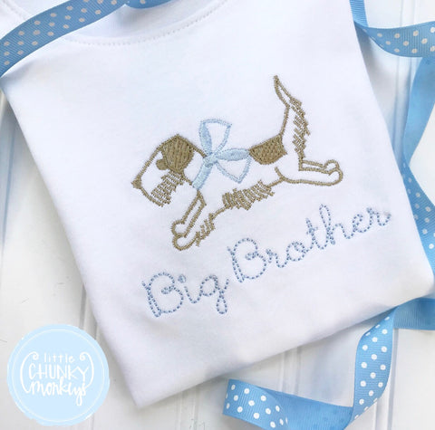 Boy Shirt - Personalized Big Brother Shirt with Dog
