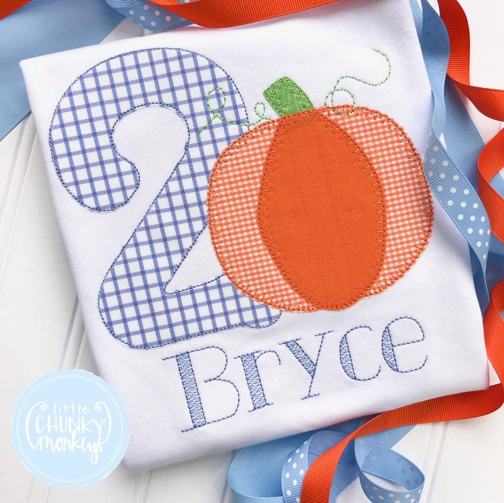 Boy Shirt - Boy Birthday Shirt - Pumpkin with Number