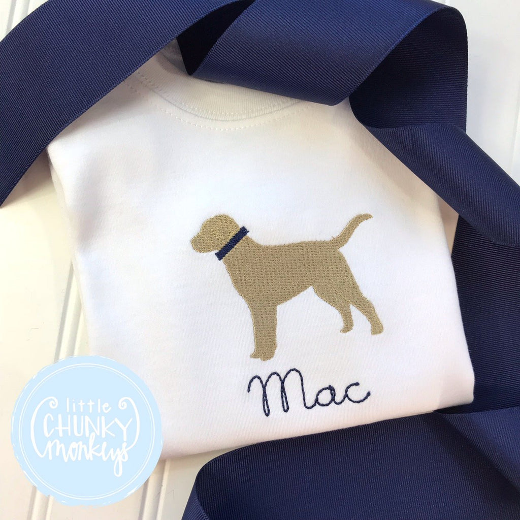 Boy Shirt - Personalized Boy Shirt - Stitched Puppy Shirt
