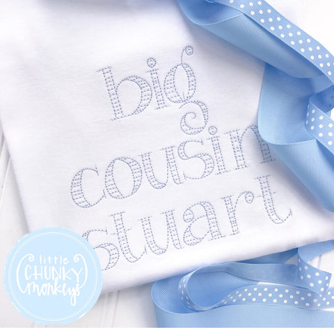Boy Shirt - Boy Shirt - Big Cousin Shirt With Name