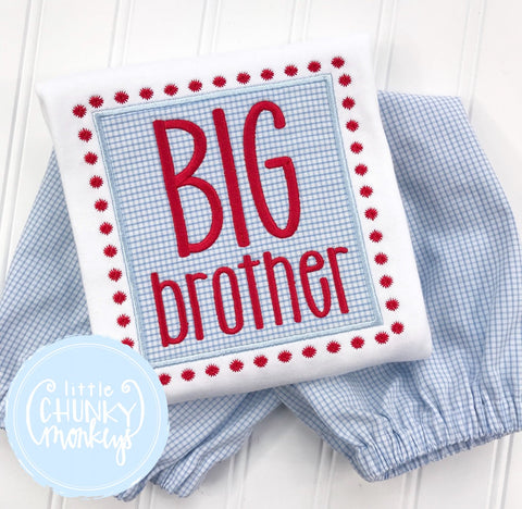 Boy Shirt -Big Brother Applique Shirt