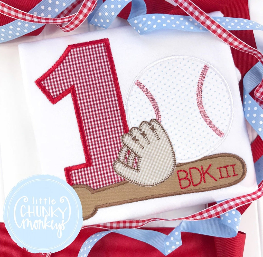 Boy Shirt - Boy Birthday Shirt - Boy Baseball Themed Birthday Shirt