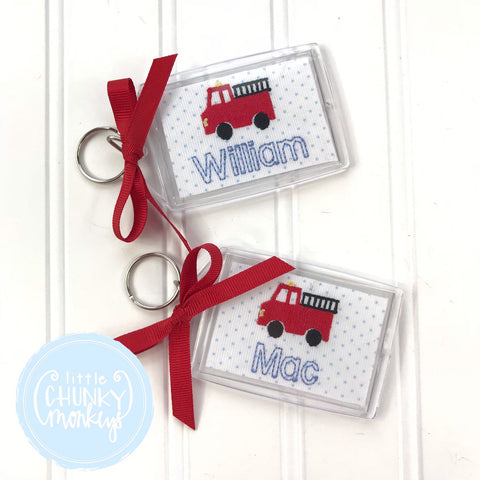 Personalized Luggage Tag - Fire Truck Luggage Tag