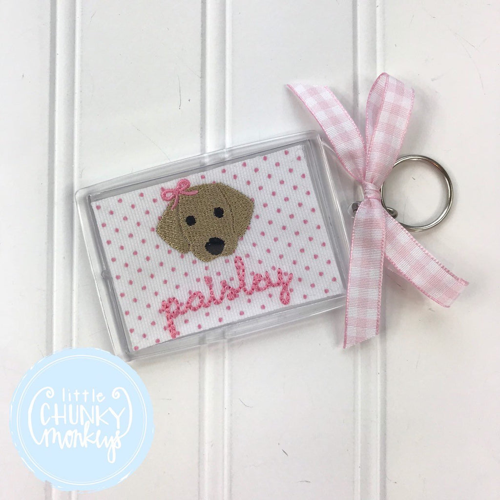 Personalized Luggage Tag - Dog with Bow Luggage Tag