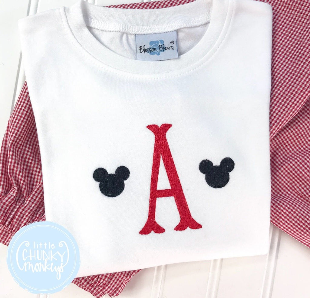 Boy Shirt - Single Initial with Mini Mouse