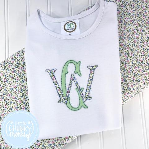 Girl Shirt- Stacked Monogram