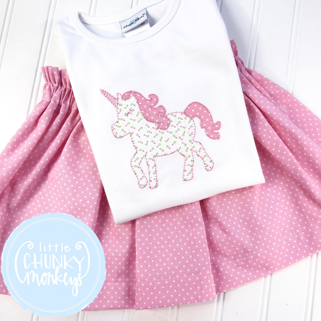 Girl Shirt - Applique Unicorn