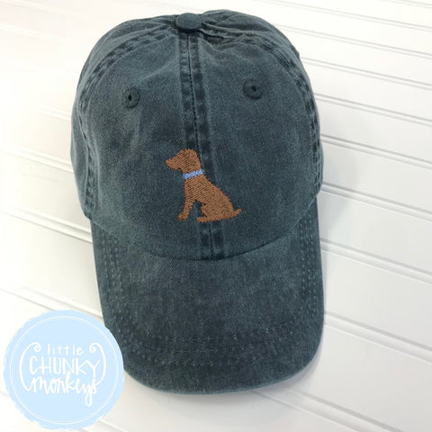 Toddler Kid Hat - Chocolate Dog on Navy