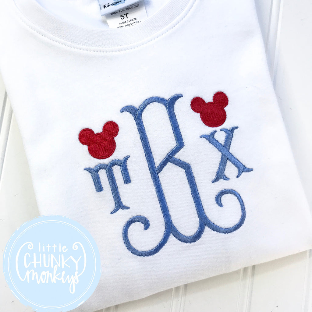 Boy Shirt - Initial with Mini Mouse