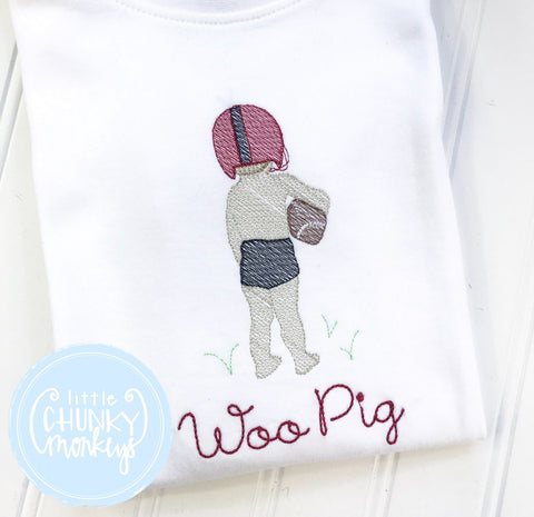 Boy Shirt - Football- Vintage Boy Football Player