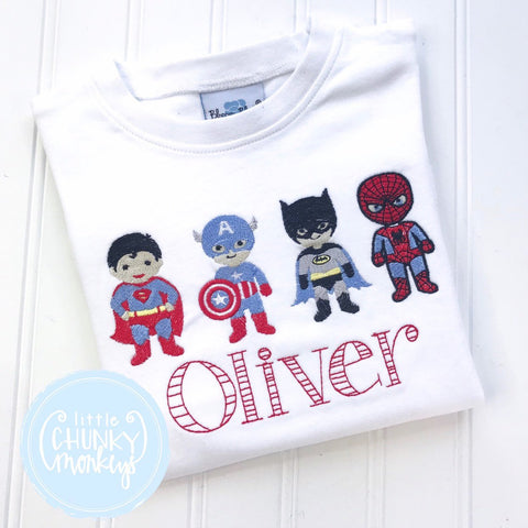 Boy Shirt - Boy Shirt - Stitched Superhero Shirt