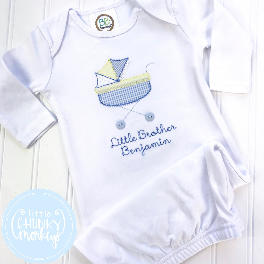 484233660 Boy Coming Home Shirt - Boy Gown - Newborn Gown with Vintage Stroller +  Personalization