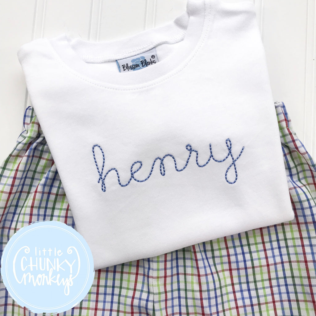 Boy Shirt - Vintage Stitched Name