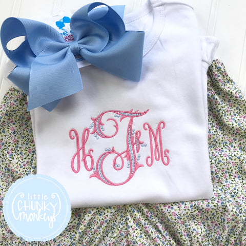 Girl Shirt - Girl Shirt - Stitched Monogram