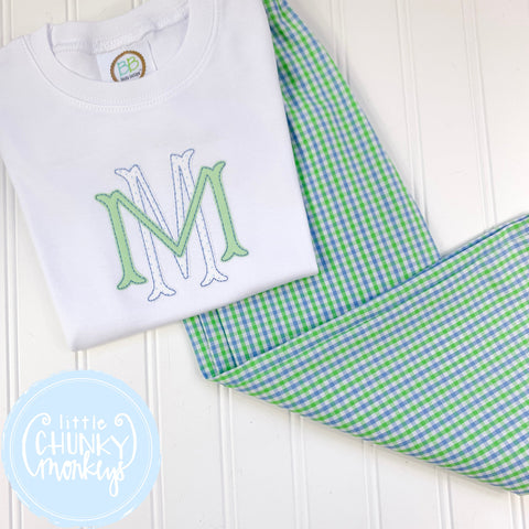Boy Shirt -Stacked Monogram