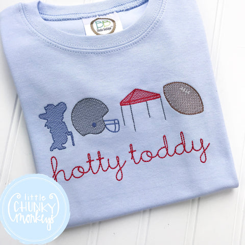 Boy Shirt - Football Trio on Baby Blue Shirt