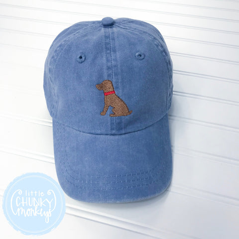 Toddler Kid Hat - Lab Puppy on Light Blue