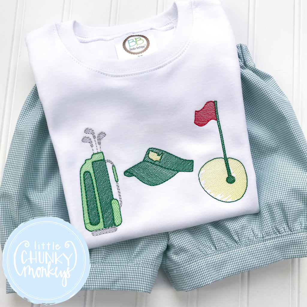 Boy Shirt - Golf Shirt -Stitched Golf Trio Shirt