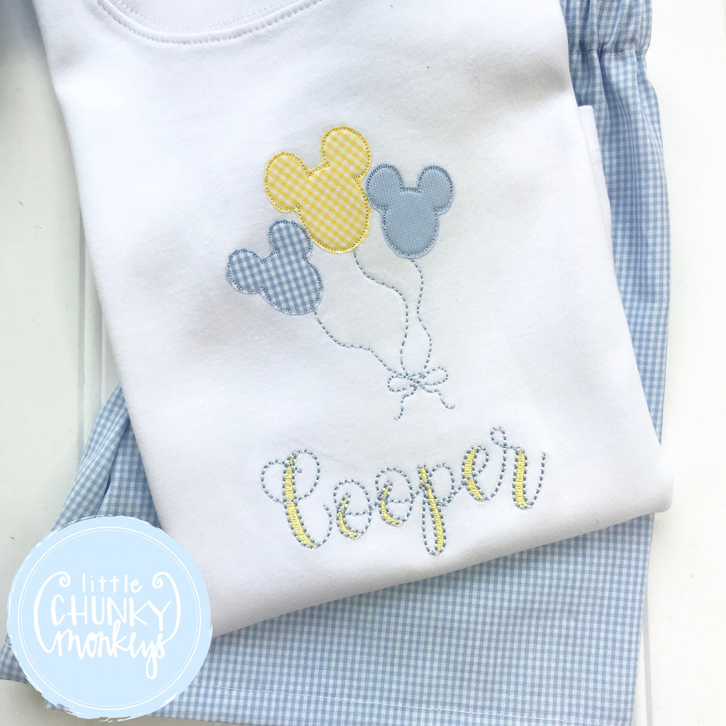 Boy Shirt - Boy Birthday Shirt - Mouse Balloons with Personalization
