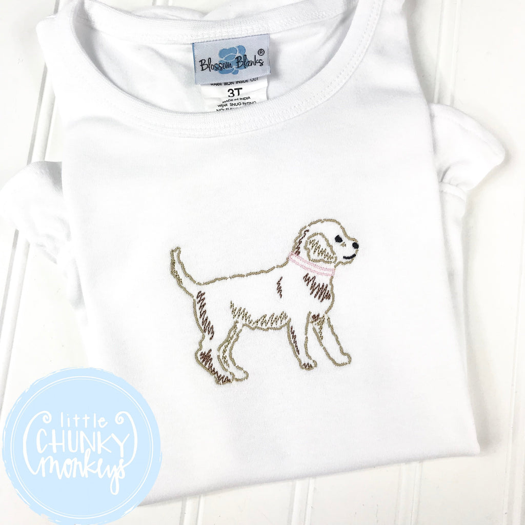 Girl Shirt - Girl Shirt - Stitched Dog
