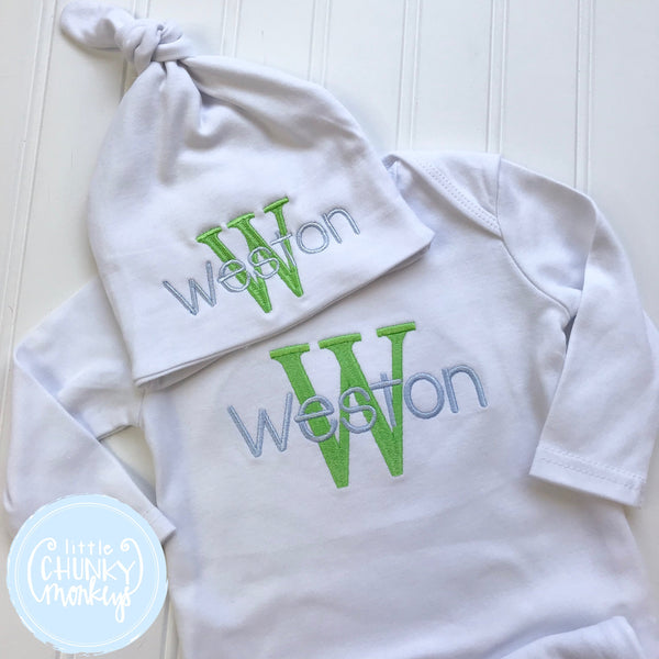 Boy Coming Home Shirt - Boy Gown - Newborn Personalized Gown with monogram