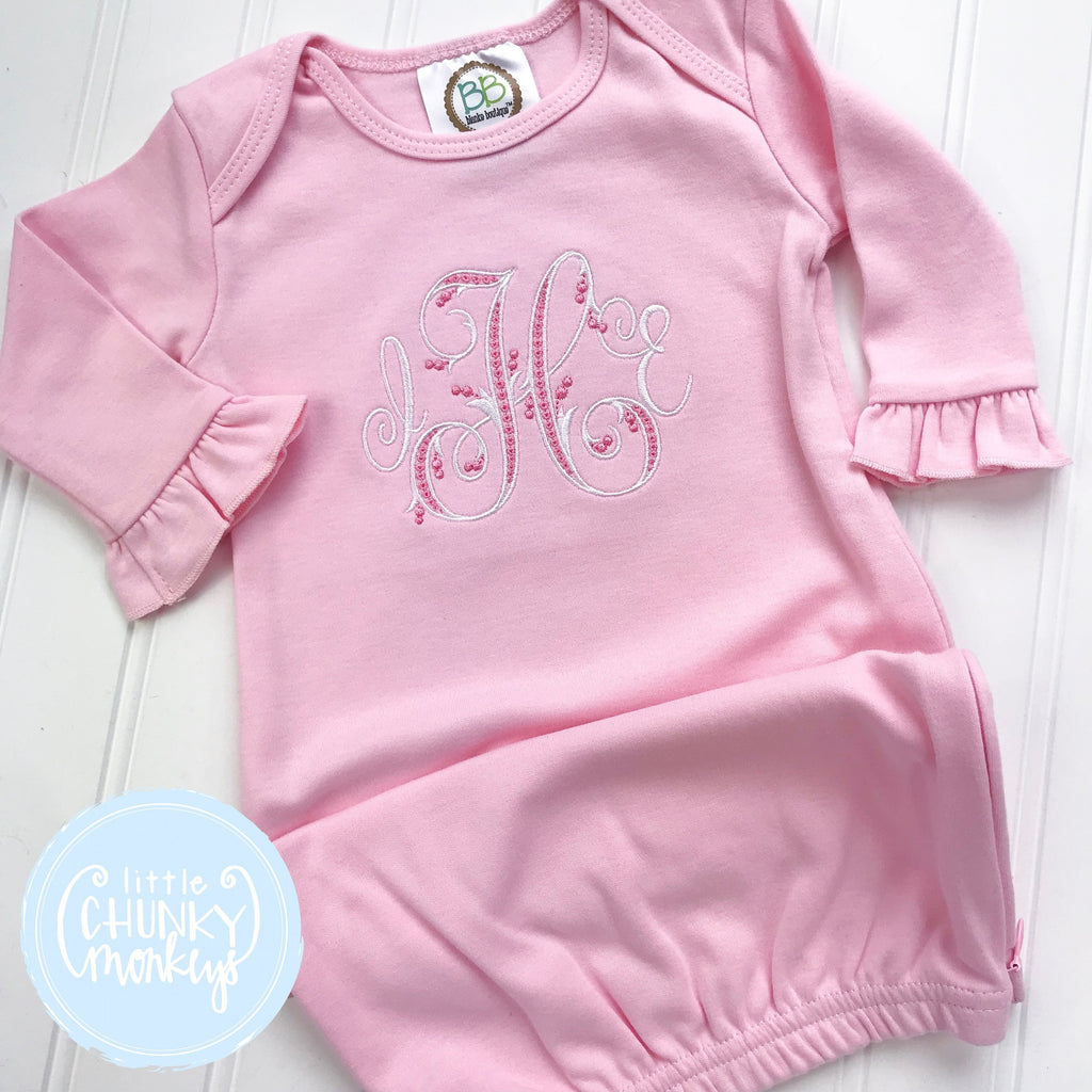 Baby Girl Gown - Bring Home Shirt - Newborn Gown with Monogram
