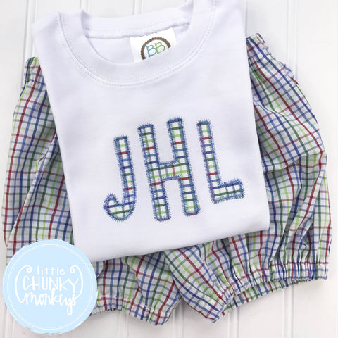 Boy Shirt -Applique Monogram