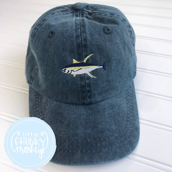 Toddler Kid Hat - Tuna Fish on Navy Hat