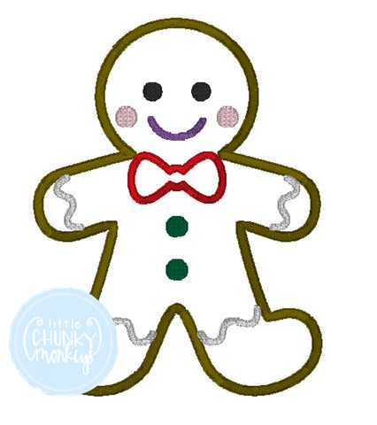 Boy Shirt -Gingerbread Man