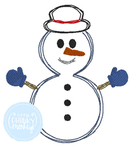 Boy Shirt - Stitched Snowman