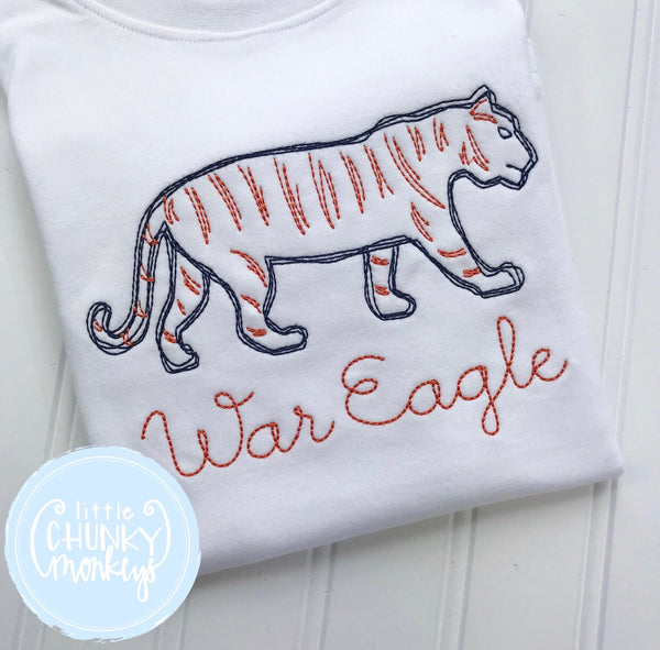 Boy Shirt - Boy Football Shirt - Stitch Tiger Shirt