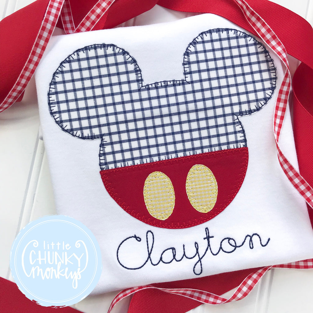 Boy Shirt - Mouse Applique