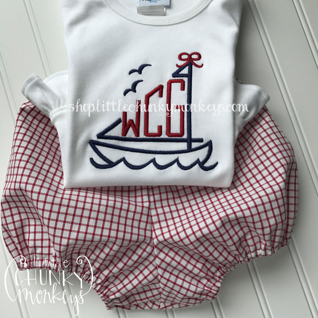 Girl Shirt - Personalized Monogram Sailboat Shirt