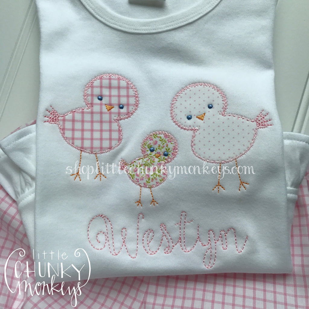 Girl Outfit - Girl Shirt - Personalized Little Chicks