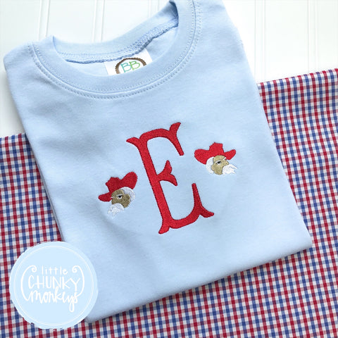 Football Shirt - Initial with Mini Mascot