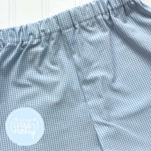 Small Light Blue Windowpane Bottoms