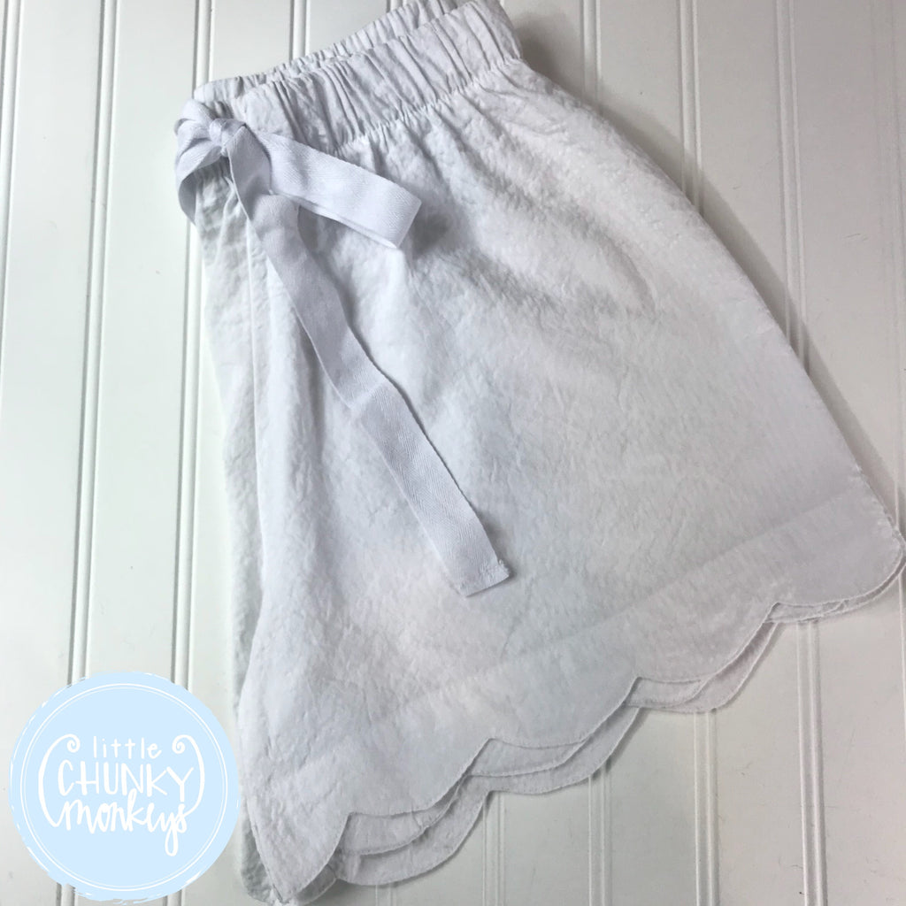 Seersucker Lounge Shorts - White