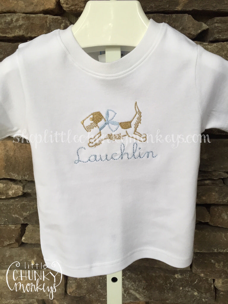 Boy Outfit - Boy Shirt - Personalized Vintage Stitch Dog Tee