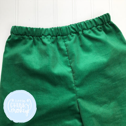 Green Corduroy Bottoms